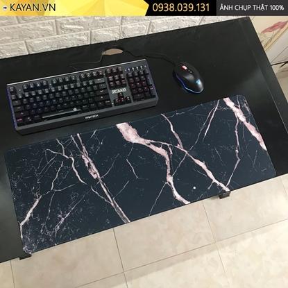 Kayan - Lót chuột cỡ lớn Họa tiết hoa văn vân đá 80x30x0.3