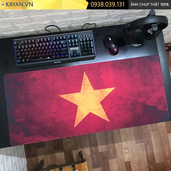 Kayan - Lót chuột cỡ lớn 90x40 Cờ Việt Nam