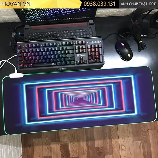 Lót chuột cỡ lớn Mê Cung - LED RGB - size 80x30x0.4cm