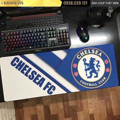 Kayan - Lót chuột cỡ lớn chủ đề Bóng Đá Chelsea - mẫu 2 - 80x30x0.3cm