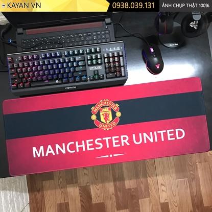 Kayan - Lót chuột cỡ lớn chủ đề Bóng Đá Manchester United - mẫu 4 - 80x30x0.3cm