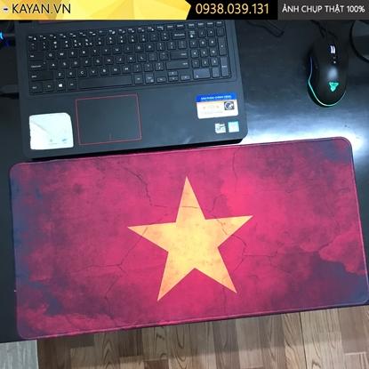Kayan - Lót chuột cỡ lớn Cờ Việt Nam 60x30x0.3