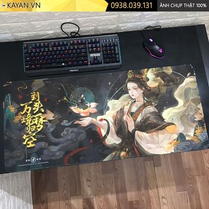 Kayan - Lót chuột cỡ lớn tranh Cổ phong Trung Quốc 90x40x0.4 cm