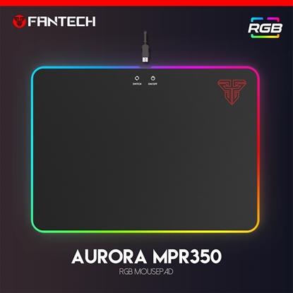 Kayan - Lót chuột cỡ lớn Fantech MPR350 AURORA - LED RGB - size 35x25x0.4cm