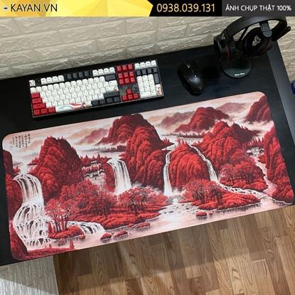 Kayan - Lót chuột cỡ lớn tranh Thủy Mặc mẫu 3 - 90x40cm