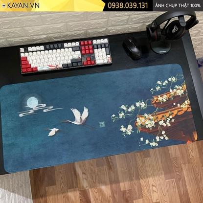 Kayan - Lót chuột cỡ lớn tranh Thủy Mặc mẫu 5 - 90x40cm