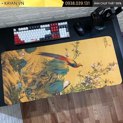 Kayan - Lót chuột cỡ lớn tranh Thủy Mặc mẫu 7 - 90x40cm