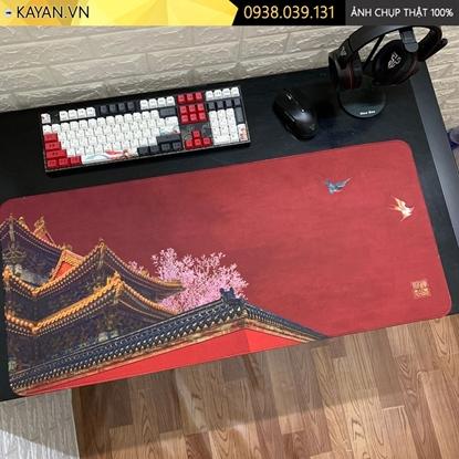 Kayan - Lót chuột cỡ lớn tranh Thủy Mặc mẫu 16 - 90x40cm
