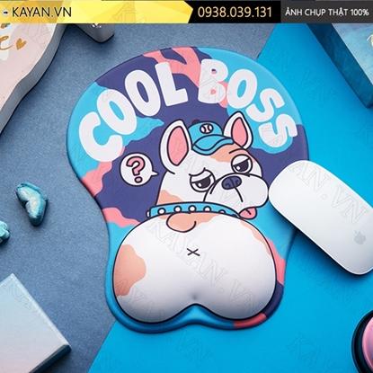 Kayan - Lót chuột 3D đệm silicon Bulldog