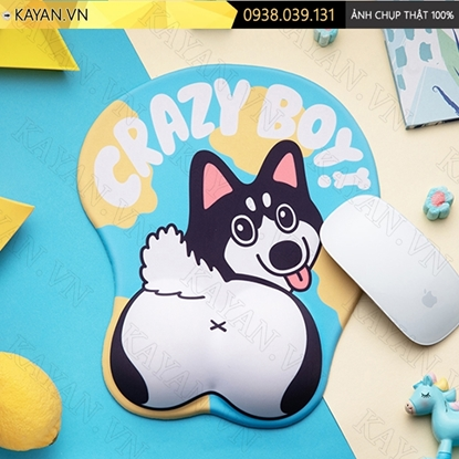 Kayan - Lót chuột 3D đệm silicon Husky