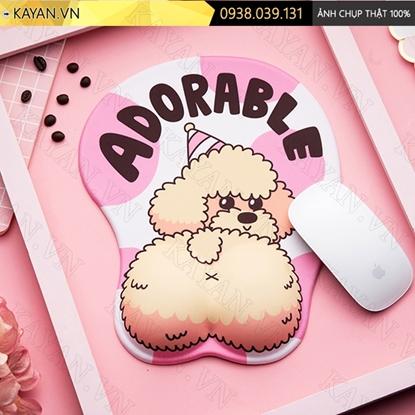 Kayan - Lót chuột 3D đệm silicon Poodle