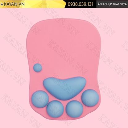 Kayan - Lót chuột 3D đệm silicon Chân mèo hồng