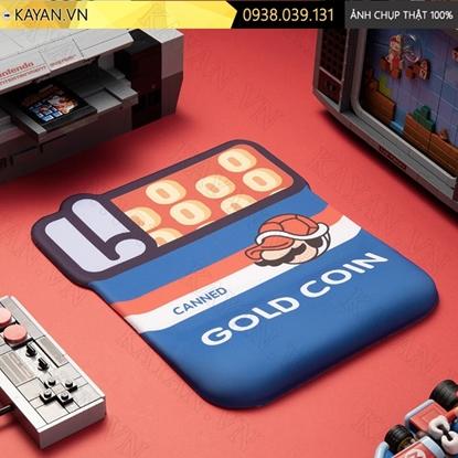 Kayan - Lót chuột 3D đệm silicon Gold coin Mario