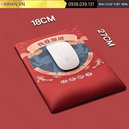 Kayan - Lót chuột 3D đệm silicon I love my job