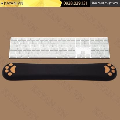 Kayan - Kê tay bàn phím đệm silicon Chân mèo đen