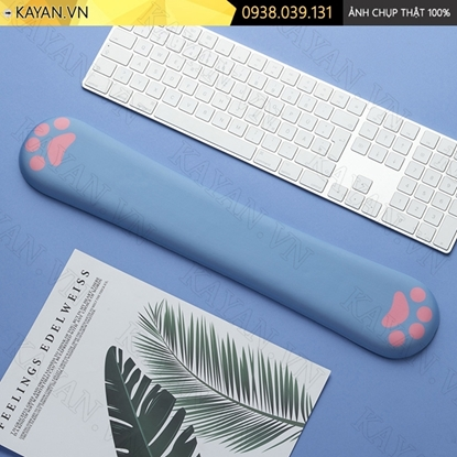 Kayan - Kê tay bàn phím đệm silicon Chân mèo xanh dương