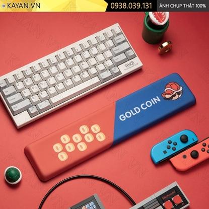 Kayan - Kê tay bàn phím đệm silicon Gold Coin Mario