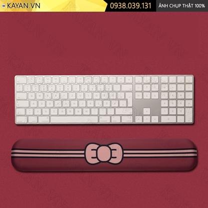 Kayan - Kê tay bàn phím đệm silicon Nơ đỏ