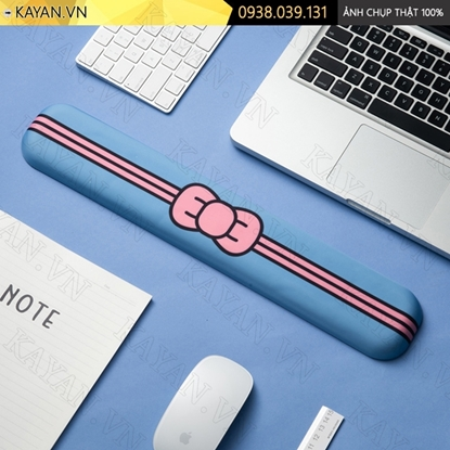 Kayan - Kê tay bàn phím đệm silicon Nơ xanh dương